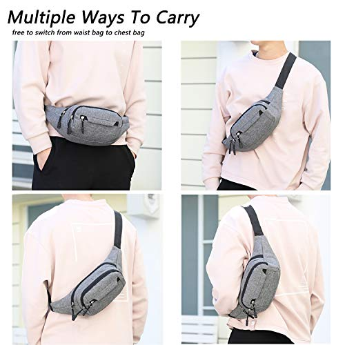 Details about  /Oxford Cloth Fanny Chest Pack Multi-Pocket Waist Pouch Unisex Crossbody Bag