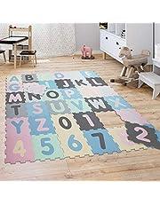 Pusselmatta Lekmatta Skummatta Barn Matta Siffror Bokstäver Pastell 36 Bitar, Grösse:32x32 cm x 36 st, Färg:Flerfärgad