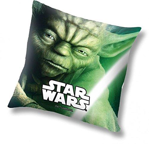 Star Wars Kissen mit Yoda-Motiv, 40x40cm, gefüllt