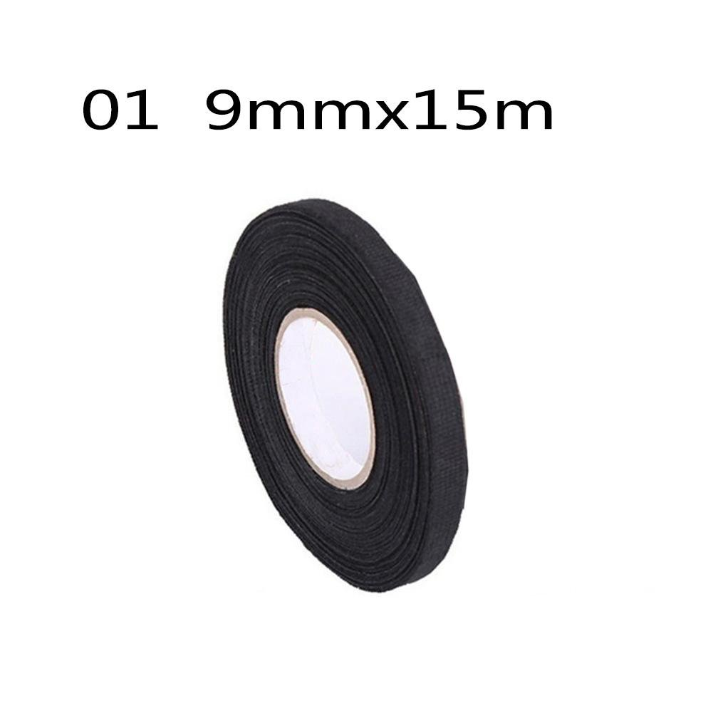Runmind High Temperature Resistance Adhesive Cloth Tape Heat Resistant Wiring Insulation Insulating 15m For Cable Harness Car Auto Sound Isolation Automotive