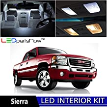 LEDpartsNOW GMC Sierra 2000-2006 Xenon White Premium LED Interior Lights Package Kit (9 Pieces) + TOOL