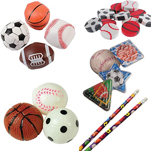 Sports Toy Party Favor Supplies 192 Piece Set for 12 Bundle ()