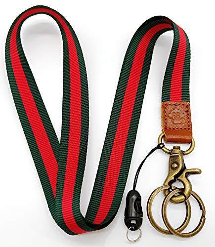 Happy Monkey Neck Lanyard Key Chain Holder/ID Badges Holder/Mobile Phone etc (red - Key Holder Monkey