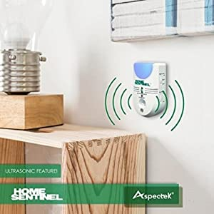 Home Sentinel Indoor Pest Control Repellent, Ultrasonic Electromagnetic Ionizer