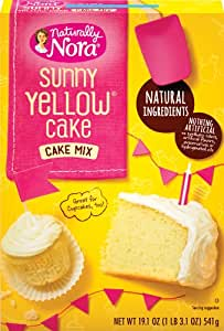 Naturally Nora Sunny Yellow Cake Mix, 19.1-Ounce Boxes (Pack of 6)