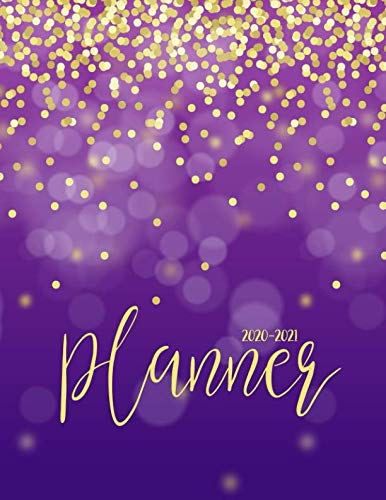 2020-2021 Planner: Jan 2020 - Dec 2021 2 Year Daily Weekly Monthly Calendar Planner W/ To Do List Academic Schedule Agenda Logbook Or Student & ... Purple Gold (2020 Planner Weekly and Monthly)