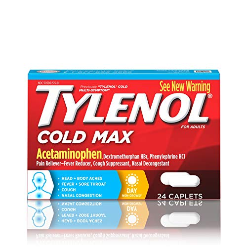 - Tylenol Cold Max Daytime Caplets, 24 Ct.
