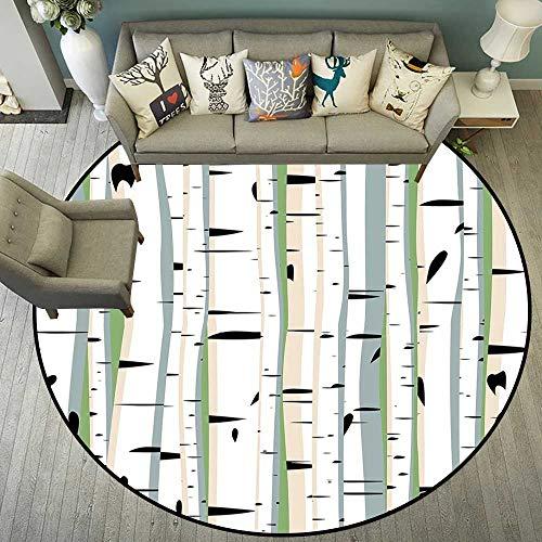 Circularity mat Anti Slip pad Round Indoor Floor mat Entrance Circle Floor mat for Office Chair Wood Floor Circle Floor mat Office Round mat for Living Room Pattern 4'11
