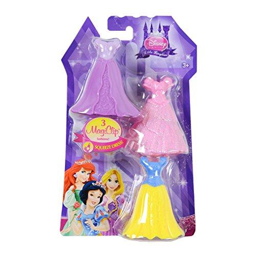 Disney Princess Little Kingdom Royal Fashions - 3 MagiClip Dresses - Snow White
