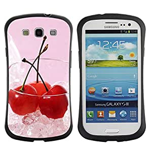Pulsar iFace Series Tpu silicona Carcasa Funda Case para SAMSUNG Galaxy S3 III / i9300 / i747 , Fruit Macro Ice Cherry