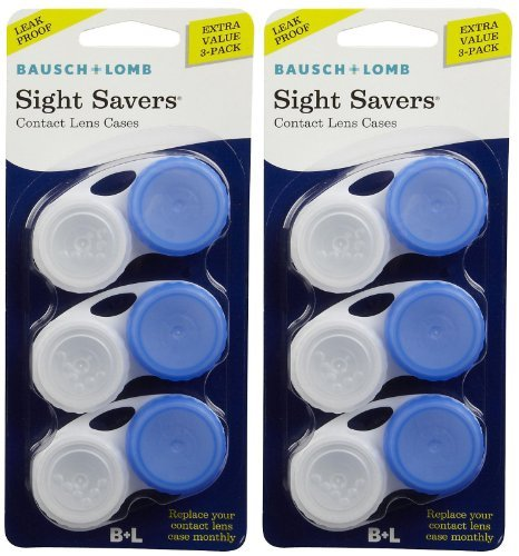 (Bausch & Lomb Sight Savers Contact Lens Case-3 ct, 2 pack)