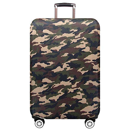 Personalized Camouflage Travel Luggage Cover,TeamWorld Protective Washable Suitcase Cover Travel Elastic Spandex Trolley…