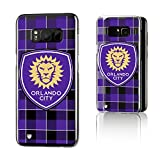 Keyscaper Orlando City Soccer Club Plaid Galaxy S8 Clear Slim Case MLS
