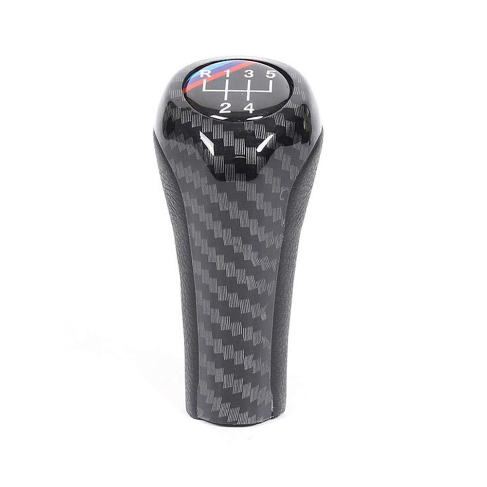 Fibra de Carbono Alta luz Perilla de Cambio Manual del Cambio de Marchas para E46 E53 E60 E61 E63 E65 E81 E82 E83 E90 E91 E92 1 3 5 6 Serie X1 X3 X5 Cambio de Palanca del Cambio del Coche