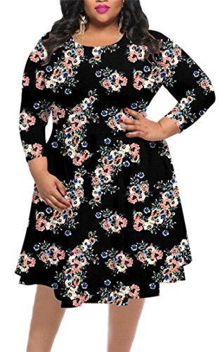 Evening Women's Dress Plus Swing Elegant All Jaycargogo Floral Size Match 4 Dresses T7O8n4x