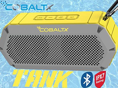 COBALTX Tank Rugged Wireless Bluetooth Speaker iPX7 Rated Waterproof Shockproof Speaker 30FT Range (Yellow Gray) -  CPS4800