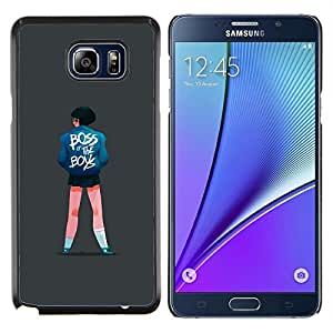 LECELL--Funda protectora / Cubierta / Piel For Samsung Galaxy Note 5 5th N9200 -- Jefe de chicas Cita Niños Street Style Fashion Art --