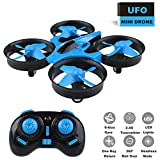Mini Drone Headless RC Quadcopter 2.4Ghz 6-Axis Gyro 4 Channels Remote Control Helicopter Indoor drones for Kids Air Hogs Airplane With One Key Return for Beginner Quad Copter Training (Blue)