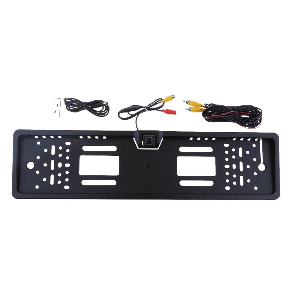 IP68 wasserdicht Homyl R/ückfahrkamera EU Nummernschildhalter Parkhilfe Kamera mit 8 LEDs Nachtsicht 170/°