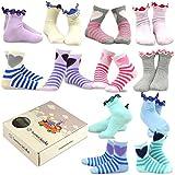 TeeHee (Naartjie) Kids Girls Cotton Basic Crew Socks 12 Pair Pack (9-10 Years, Hearts)