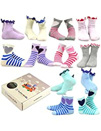 TeeHee (Naartjie) Kids Girls Cotton Basic Crew Socks 12 Pair Pack