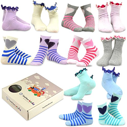 TeeHee (Naartjie) Kids Girls Cotton Basic Crew Socks for sale  Delivered anywhere in USA