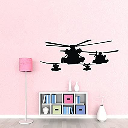Amazon.com: Olivia Helicopter Wall Decals Removable Military ...