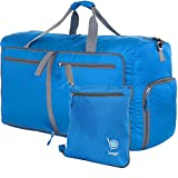 Bago Travel Duffle Bag For Women & Men - Foldable Duffel Bags For Luggage Gym Sports (Large 27'',Blue)