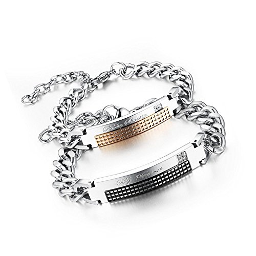 bluebell-jewelry-titanium-steel-my-tresurebaby-sweety-link-chain-bracelet-for-couples