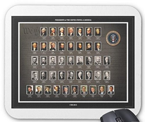 USA Presidents Mouse Pad Computer Accessories, Gaming Mouse Mat 11.8 X 9.8 Inch