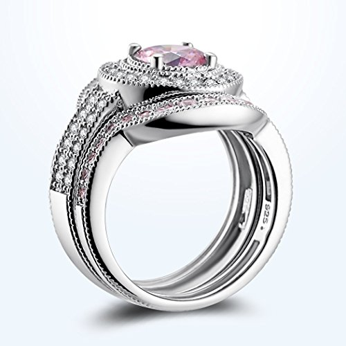 caperci 3 sterling silver cz created pink