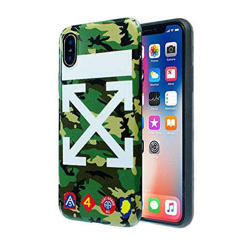 New iPhone X/10 New York Street Fashion Camouflage Case: Luxury Durable Designer Protective TPU Cover/Bumper / Skin/Cushion (White/Camo)