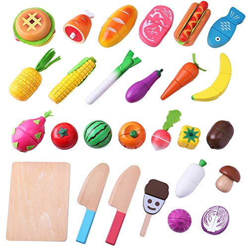 Incredible Iplay Ilearn Cutting Cooking Toy Wooden Food Pretend Play Kitchen Set Magnetic Wood Fruit Early Educational Development Learning Gift For 2 Download Free Architecture Designs Jebrpmadebymaigaardcom
