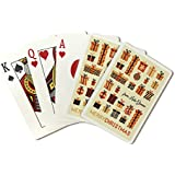 Lake Geneva, Wisconsin - Merry Christmas - Gift Pattern - Retro Christmas (Playing Card Deck - 52 Card Poker Size with Jokers)