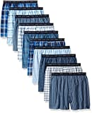 Hanes Men's 10-Pack Tartan Boxer with Exposed