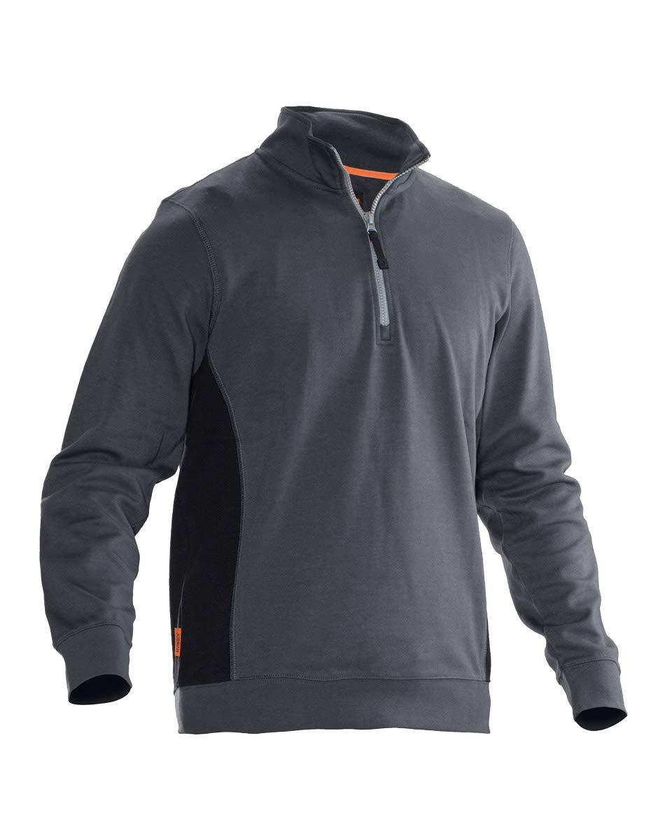 jobman Workwear 5401 7/Sweatshirt 1//2/zip XL gris 540120 9899
