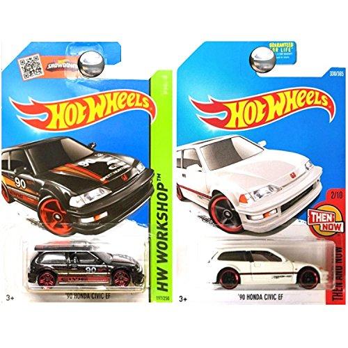 - Hot Wheels Hunda Civic EF Hatchback Black and White SET OF 2