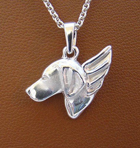 Small Sterling Silver German Shorthaired Pointer Angel - Pointer German Jewelry Shorthaired
