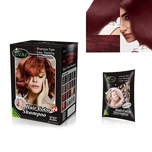 r Color Shampoo Semi-Permanent Hair Shampoo - 10-Bag/Box (wine red) ()