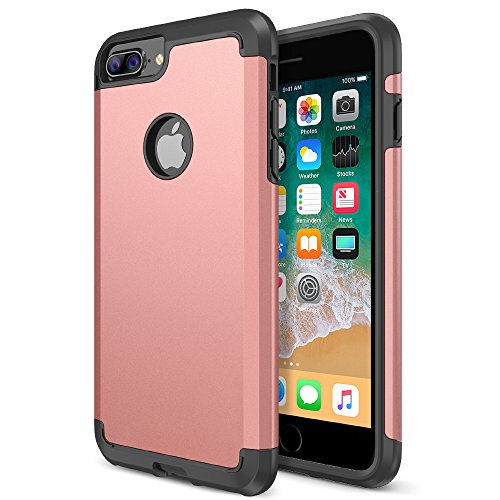 iPhone 8 Plus Case, Trianium Protanium Apple iPhone 8Plus Case (2017) with Heavy Duty Protection/Shock Absorption/Dual Layer TPU + Rigid Back Armor/Anti-Scratch/Reinforced Corner -Rose Gold