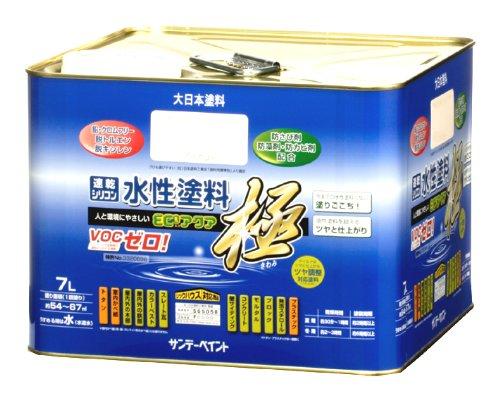 サンデーペイント 水性ECOアクア ブラックグレー 0.7L B0095DY1HG 0.7L|ブラックグレー