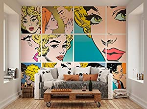 Ohpopsi Couples Kissing Pop Art Wall Mural Part 91