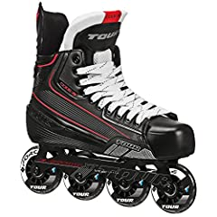 Experience the Tour advantage in the Tour code 7 inline Hockey skates. Made with lightweight TUFF-SKIN exterior and comfort moisture wicking tricot liner, the code 7 skates provide a great value for the casual or new-to-hockey player. Traditi...