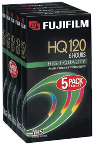 Fuji HQ T-120 Video Cassettes, 5 Pack (Discontinued by Manufacturer) FUJIFILM