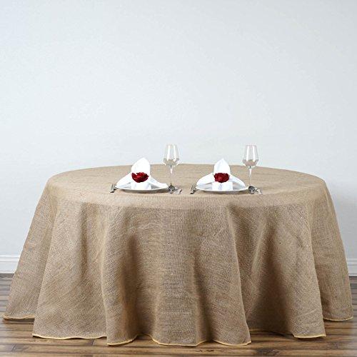 Efavormart Fine Rustic Burlap Tablecloth Round 120