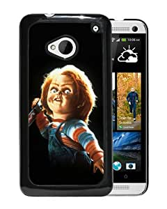 Beautiful Designed Cover Case For HTC ONE M7 With child's play chucky Black Phone Case