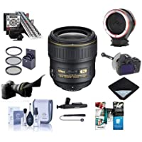 Nikon 35mm f/1.4G AF-S NIKKOR Lens Kit - Bundle With 67mm Filter Kit,LensAlign MkII Focus Calibration System, DSLR Follow Focus & Rack Focus, Peak Lens Changing Kit Adapter, Lens Wrap, And More