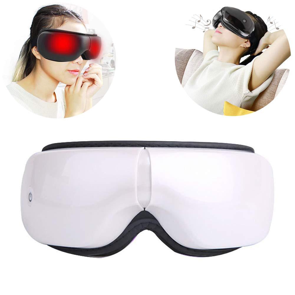 Intelligent Eye Care Instrument,Hot-compress Eye Care Wireless Eye Massager,Relax Eyes Reduce Dark Circles Improve Sleeping,White