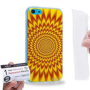 Case88 [Apple iPhone 5C] Gel TPU Carcasa/Funda & Tarjeta de garantía - Art Fashion Visual Art Effect 14 1025