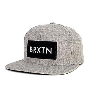 5b8380cfe18 Brixton Rift Snap Back Hat Light Grey Heather Skateboard/Surf/Clothing/Hat:  Amazon.co.uk: Clothing